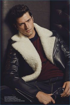 Sean O'Pry Sports Leather + More for Glass Cover Shoot - The Fashionisto