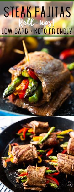 Steak Fajitas roll ups are low carb and keto friendly, packed with flavor, and s. Steak Fajitas roll ups are low carb and keto friendly, packed with flavor, and so easy to make. Steak Recipes, Low Carb Recipes, Healthy Recipes, Steak Fajita Recipe, Steak Tips, Primal Recipes, Hamburger Recipes, Paleo Meals, Paleo Food