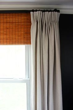 Pinch pleat dropcloth curtains - detailed instructions