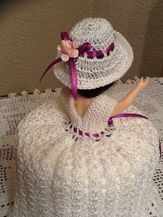 Beautiful Handmade Crochet Doll Toilet Paper by SylviaCrochets, $15.00