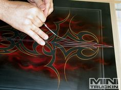 pinstripping   Learning The Basics Of Pinstriping Pinstripe Design