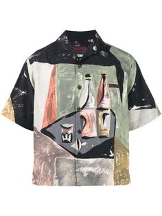 Shop Prada Wine Bottles Bowling Shirt from our Shirts collection. Bowling Outfit, Prada Mens Clothing, Men's Clothing, Mens Printed Shirts, Men's Shirts, Dress Shirts, Mens Bowling Shirts, Casual Shirts For Men, Men Casual