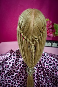 Faux Waterfall Braid