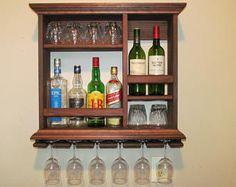 Mini Bar Black stain wine rack liquor cabinet minimalist