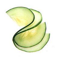 How to Garnish (cucumber, zucchini, carrot, radish, green onion, etc.)