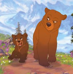 Brother Bear , 2003 watched July 2012 I've decided to set aside my issues with Phil Collins' ridiculous soundtrack so I can focus .