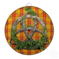 Celtic Trinity Knot And Clan MacMillan Tartan Dartboard