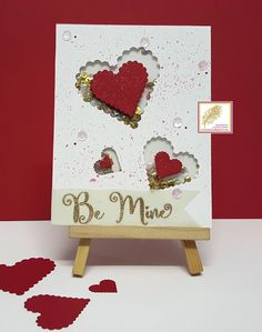 V R Enchanted: Be Mine - Handmade card using ItsyBitsy dies.