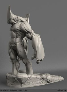 Creature concept research - Interesting design, it has a very unreal style yet looks natural. Maybe something for 3D Printer Chat?