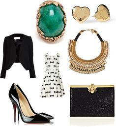 """""""Black and Gold Luxury"""" by courtneyrose-cf on Polyvore"""
