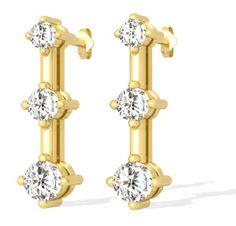 Trilogie Diamantohrringe aus 585er Gelb- od. Weißold für nur 1399,00 Euro bei www.diamantring.be