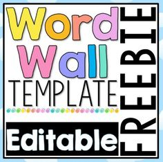 Word Wall template download that you can edit