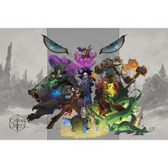 Critical Role Limited Edition Poster Illustrated by Joe Mad | Geek & Sundry Store