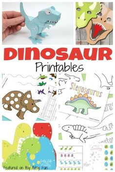 Free Dinosaur Printables for Kids. Lacing cards, coloring pages... tons of stuff.