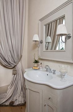 Antonio Lionetti Vanity, Curtains, Mirror, Bathroom, Furniture, Country, Home Decor, Wire, Home
