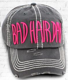 b82f4faa8cae5 DISTRESSED GRAY  BAD HAIR DAY  CAP 19.95This cap is the perfect year-
