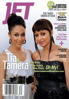 Tia and Tamera Cover Jet Magazine August 2011 V Magazine, Ebony Magazine Cover, Black Magazine, Magazine Covers, Magazine Stand, Black Actors, Black Celebrities, Vanity Fair, Tia And Tamera Mowry
