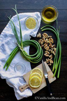 Vegan Garlic Scape Pesto | Vanilla And Bean