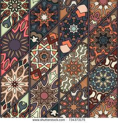 Colorful vintage seamless pattern with floral and mandala elements.Hand drawn background. Can be used for fabric, wallpaper, tile, wrapping, covers and carpet. Islam, Arabic, Indian, ottoman motifs. Fabric Rug, Fabric Wallpaper, Wallpaper Backgrounds, Pattern Floral, Thai Pattern, Chinese Patterns, Japanese Patterns, Textile Patterns, Print Patterns