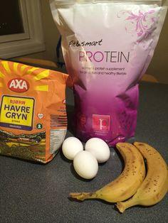 Dette trenger du for å lage disse nydelige lappene: - 3 egg - 200 gram havregryn - 2 bananer -...
