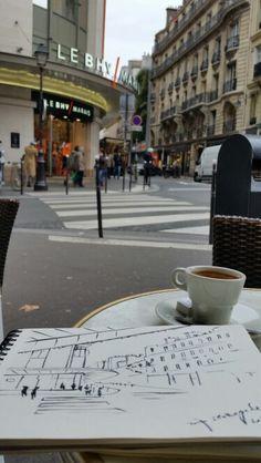 #sketching @paris @marais #zoiaskoropadenko #contemporaryart #ukrainiancontemporaryartist #artistinParis #France #bhv