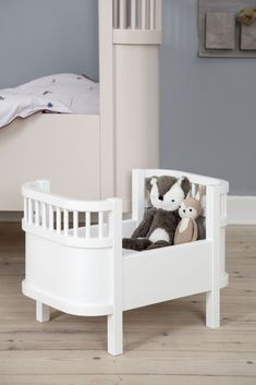 A doll size version of this iconic bed - in a beautiful soft white - which provides their baby with a perfect spot to rest her head. Baby Doll Bed, Doll Beds, Baby Boy Rooms, Baby Cribs, Baby Decor, Nursery Decor, Best Friend Picture Frames, Animal Head Decor, Baby Alive Dolls