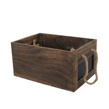 large rectangle wood crate with chalkboard by ashland