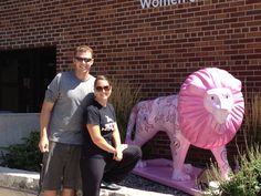 13 - Visit the Breast Cancer Lion on display at St. Elizabeth's Hospital. 200 points. #FoxCities #Appleton #Wisconsin