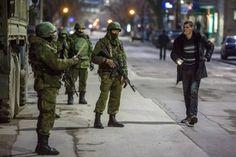 Russians in Crimea, Ukraine crisis March 2014.