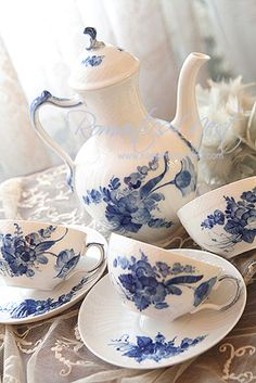 Royal Copenhagen Blue Flowers Curved