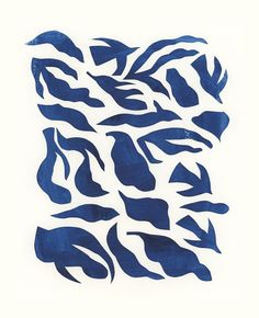 penelope dullaghan : matisse inspired play : blue shapes
