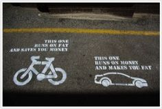 Ride your bike.  Save the planet.