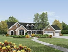 Country House Plan with 2322 Square Feet and 4 Bedrooms from Dream Home Source | House Plan Code DHSW076208