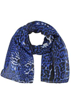 Exotic Tricolor Animal Print Scarf