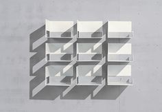ZIGN Shoe Shelf is a modern flexible wall shelving system for shoes and accessories, consisting of separate steel modules that can be placed together in whatever formation you desire. http://vurni.com/zign-flexible-wall-shoe-shelf/