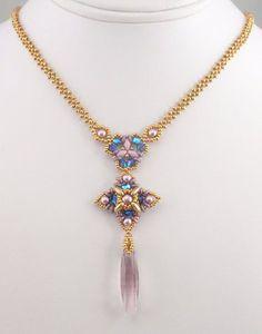 Beading Tutorial for Fairy Talisman Necklace por njdesigns1