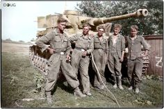 This photo of Panzer IV and tired crew was taken in the area of Kursk in 1943.