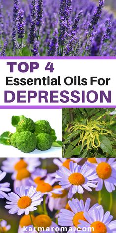 """Everyone suffers from situational depression or """"feeling down"""" sometimes. With the stresses and pressure of modern life, it's no surprise that when we are struggling to cope, many of us look for an alternative solution such as essential oils. Read on to learn more about top 4 essential oils for depression and how to use essential oils for anxiety and depression."""