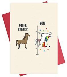 Best Friend Birthday Cards, Creative Birthday Cards, Unicorn Birthday Cards, Best Friend Cards, 30th Birthday Cards, Bday Cards, Friendship Cards, Funny Friendship, Birthday Card Drawing