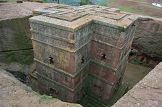 This is among my all-time favorites, St. George's Church in Lalibela, Abyssinia (Ethiopia), carved out of rock; like Petra in Jordan. Many believe, as I, that from the evidence availabe, King Soloman of Isreal (by the Rabbis) sent the Ark of the Covenant to the Queen of Sheba (Ethiopia) one of his wives to hide it. It was removed in the 20th century. Many theories, that's mine.