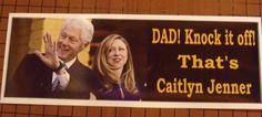 Dad Knock it Off - ANTI HILLARY PRO TRUMP POLITICAL BUMPER STICKER