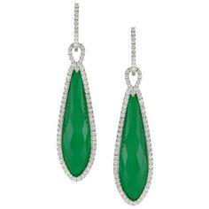 Green Agate and Diamond Earrings Available at Houston Jewelry!  www.houstonjewelry.com Diamond Earrings, Drop Earrings, Green Agate, Houston, Pendant Necklace, Jewelry, Bijoux, Drop Earring, Jewlery