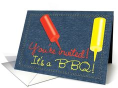 Barbeque Party Invitation by Penny Cork