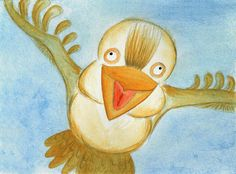 Kookaburra - Watercolour by Sandra Herrgott