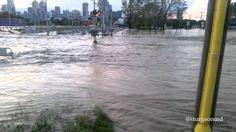 Calgary Alberta Flood 2013 June 21, 2013 - McLeod Trail North and 25th Ave SW looks like rapids