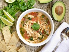 This Mexican classic is light, fresh, and flavorful. Shredded chicken, vegetables, and a tangy lime infused broth make this chicken & lime soup to die for.