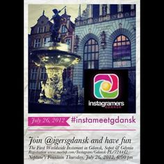 The first Worldwide #Instameet in #Gdansk #Sopot & #Gdynia. Join @igersgdansk and have fun. Registration www.meetup.com/Instagram/Gdansk-PL/724442  (Taken with Instagram at Fontanna Neptuna)