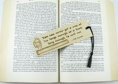 Wooden Bookmark  Hand Pyrography  CS Lewis Quote Bookmark by bkinspired #cslewis #quote #bookmark