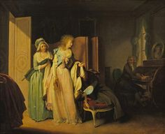 L'invitation en retour, Boilly Louis Léopold, about 1789