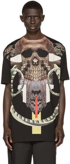 Marcelo Burlon County Of Milan: Black Guanajay T-Shirt | SSENSE